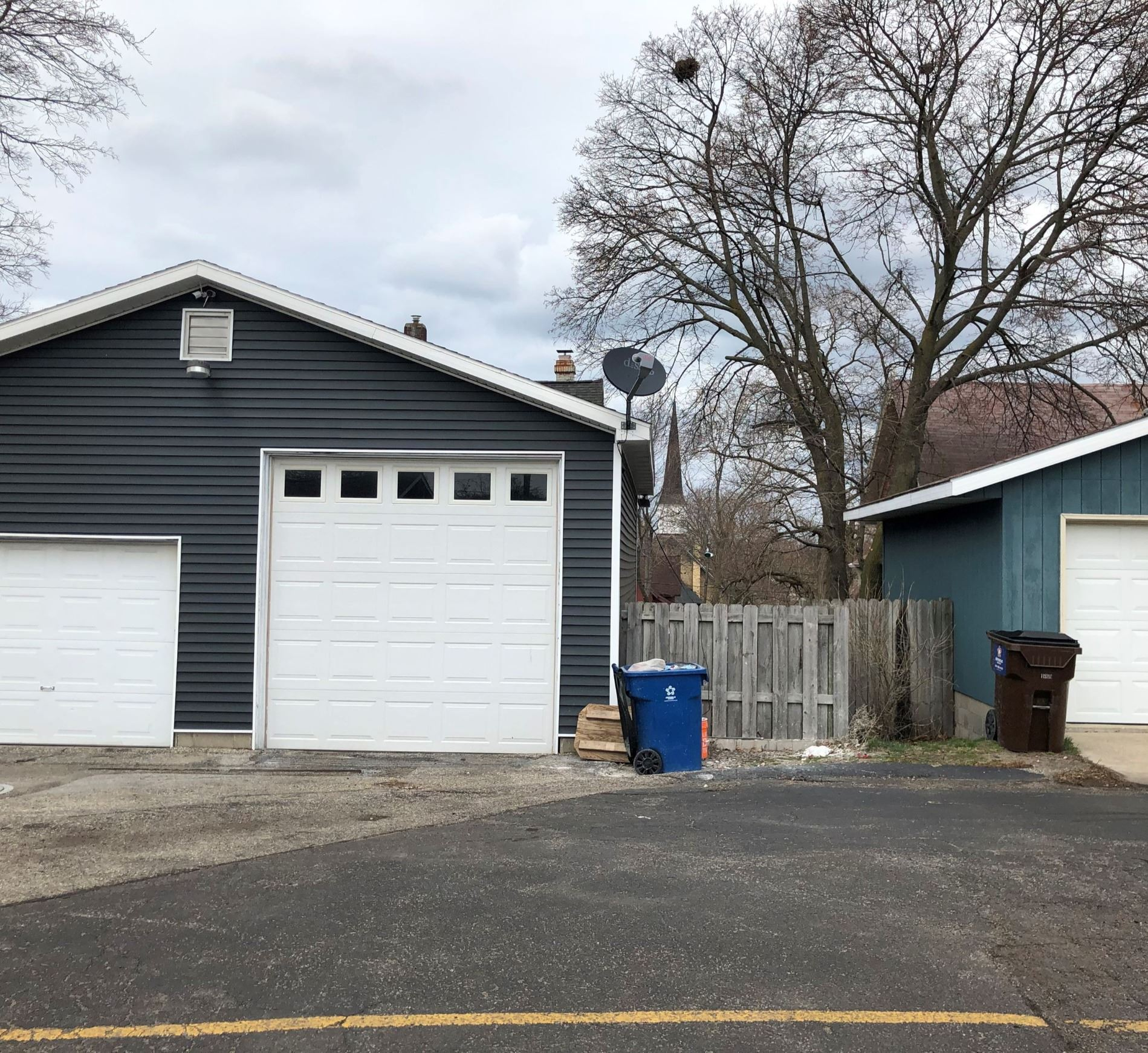 land with portion of garage